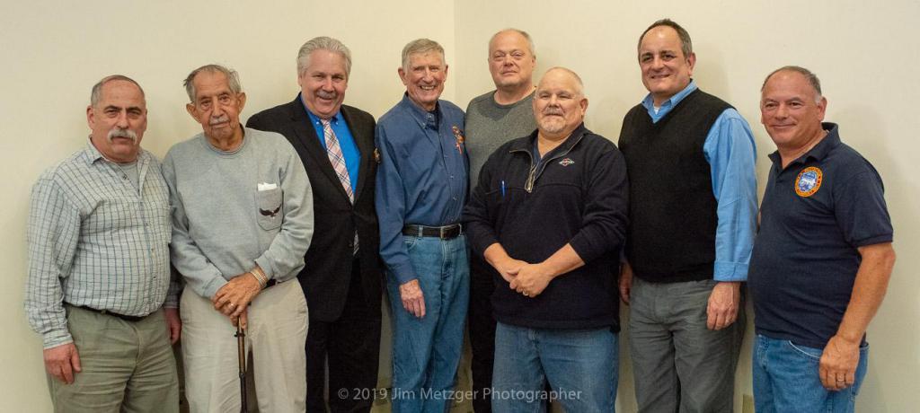 Members of the Deputy Chiefs Association (from L-R): Russak, W. Gunther, M. Gunther, Drumm, Pecylak, Bannon, Sarfaty, Gagliardi